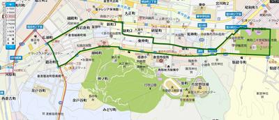 赤瓦白壁土蔵群コースマップ