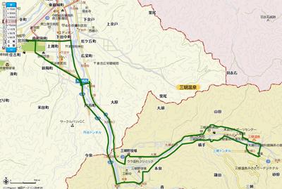 三朝温泉コースマップ